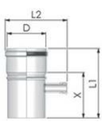 Tricox Alu mérőpont 80mm, Fehér
