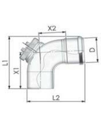 Tricox PPs ellenőrző könyök 87° 110mm