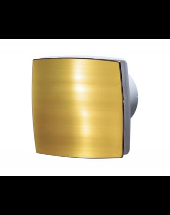 Vents 100 LDATH Zárt előlappal szerelt dekor ventilátor (arany) Időkapcsolóval és Páraérzékelővel