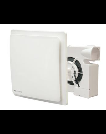 Vents VNV-1D TR Egycsöves Szellőzőrendszerbe Építhető Falba Süllyeszthető Ventilátor Bekapcsolási Késleltetéssel és Időkapcsolóval