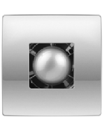 Vents 100 Atoll Titan TH Modern Formatervezésű Inox Előlapos Ventilátor Páraérzékelővel és Időkapcsolóval
