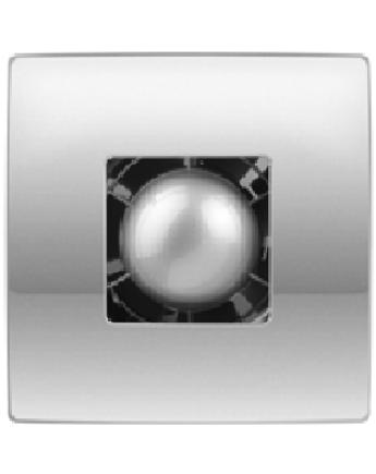 Vents 100 Atoll Titan Modern Formatervezésű Inox Előlapos Ventilátor