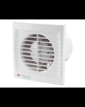 Vents 150 Silenta-STHL Alacsony Zajszintű és Energiafogyasztású Ventilátor Lapos Előlappal Páraérzékelővel, Időkapcsolóval és Golyóscsapággyal