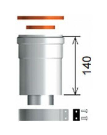 Ariston Indítóidom, alu, Ø60/100 mm